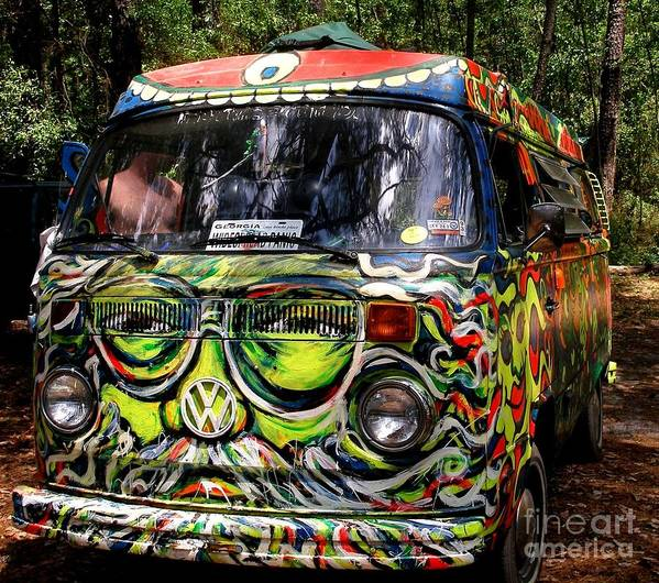 Vw Art Print featuring the photograph Garcia Vw Bus by Angela Murray
