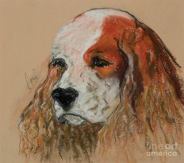 Dog Art Print featuring the pastel Idle Thoughts by Cori Solomon