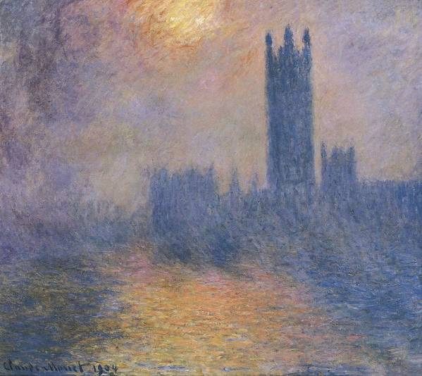 Horizontal Art Print featuring the photograph Monet, Claude 1840-1926. The Houses by Everett