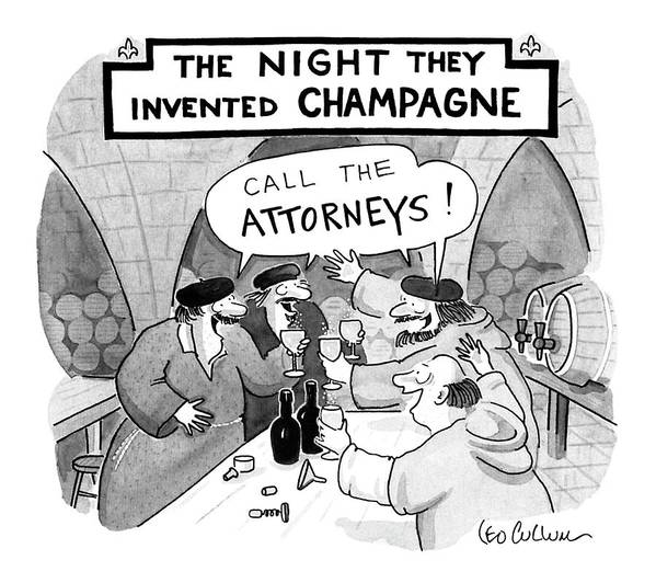 Law Art Print featuring the drawing New Yorker January 8th, 1990 by Leo Cullum