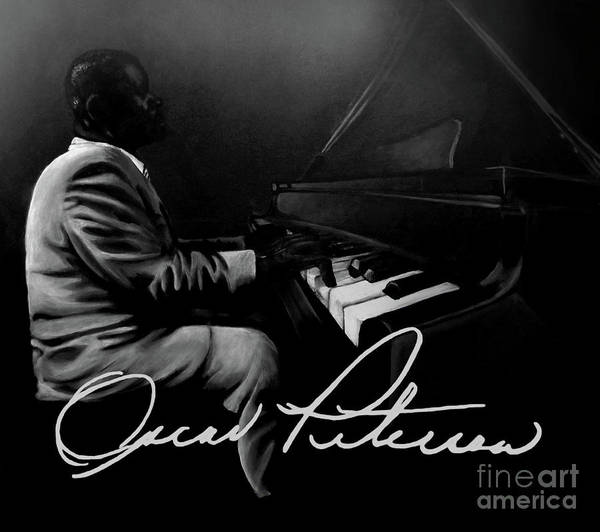 Jazz Art Print featuring the painting Oscar Peterson by Tylir Wisdom