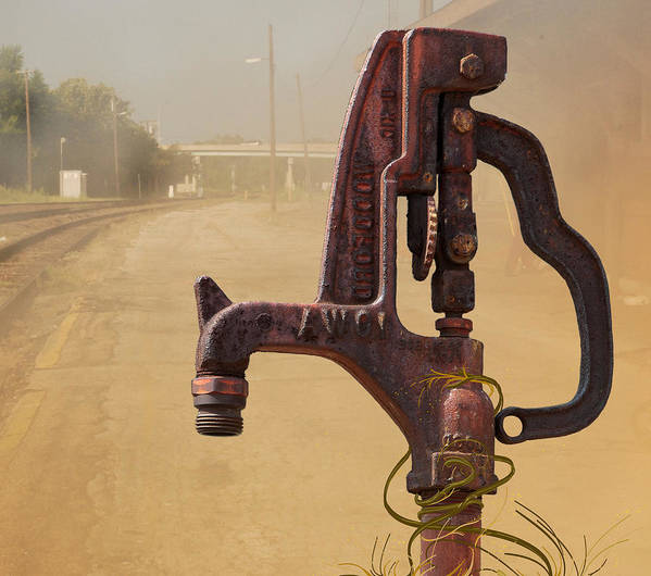 Water Faucet Art Print featuring the digital art Turn On The Water Please by Lena Wilhite