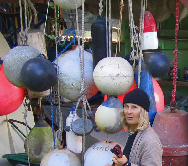 Buoys Art Print featuring the photograph Babe With The Buoys by Kym Backland