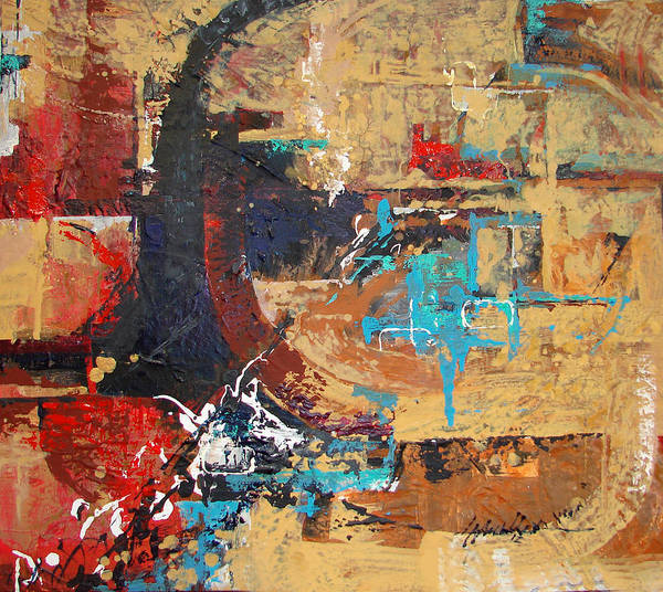 Abstract Art Print featuring the painting Departure by Joe Mueller