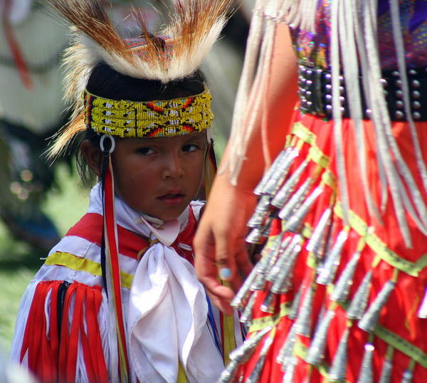 Pow Wow Art Print featuring the photograph Not Sure by Laurie Prentice