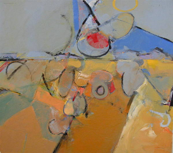Abstract Painting Art Print featuring the painting S W by Cliff Spohn
