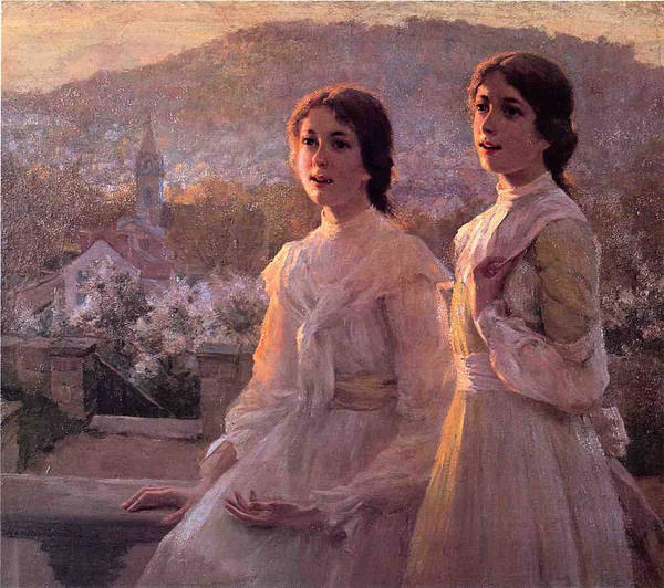 Twins Art Print featuring the painting Southern Belles by Terry Sita