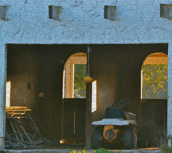 Digital Photos Art Print featuring the photograph Two Tractor Garage by Bill Owen