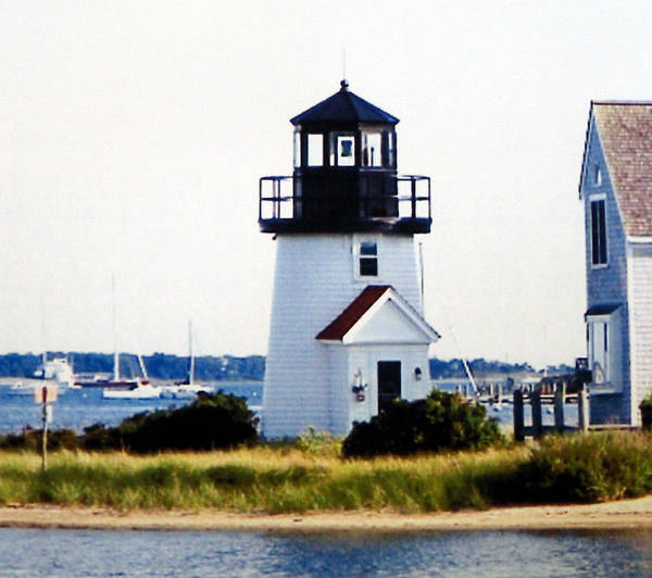 Lighthouse Photographs Art Print featuring the photograph Hyannis Inner Harbor Light by Frederic Kohli