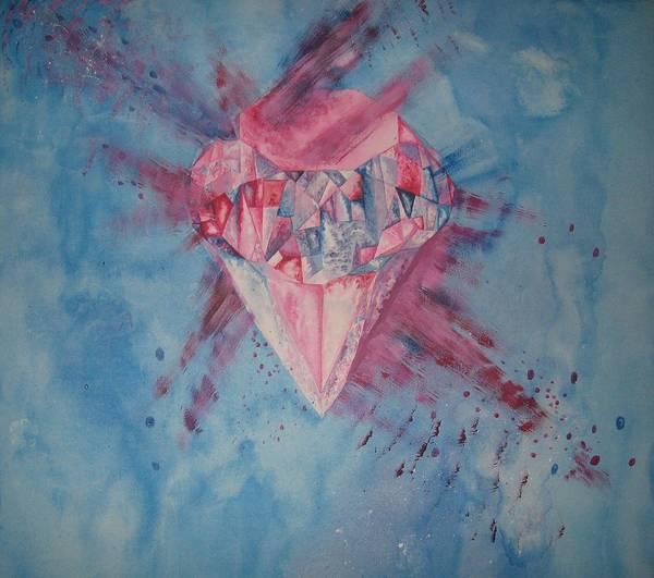 Diamond Art Print featuring the painting Blood Diamond by Theodora Dimitrijevic