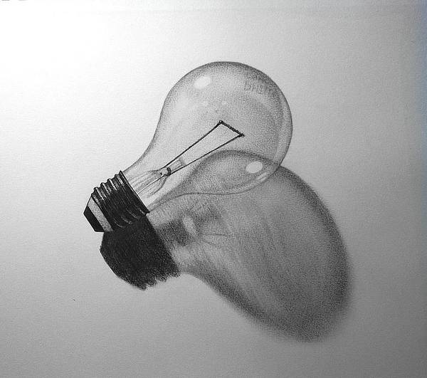 Philips Art Print featuring the drawing Bulb Of Light by Justin Boysko