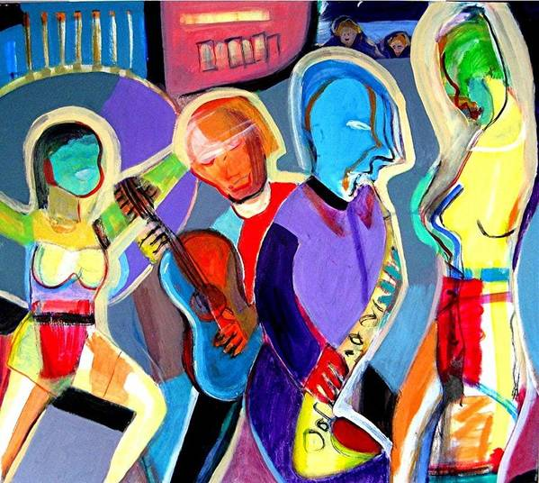 Jazz Art Print featuring the painting Cabaret by Barron Holland