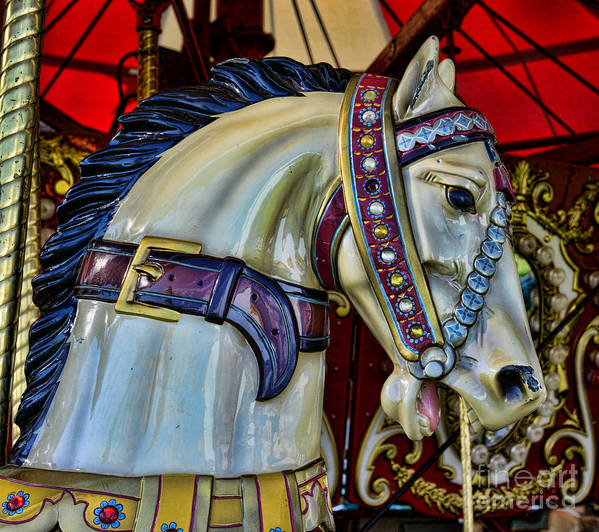 Carousel Art Print featuring the photograph Carousel Horse - 7 by Paul Ward