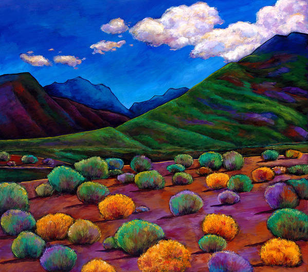 Arizona Print featuring the painting Desert Valley by Johnathan Harris