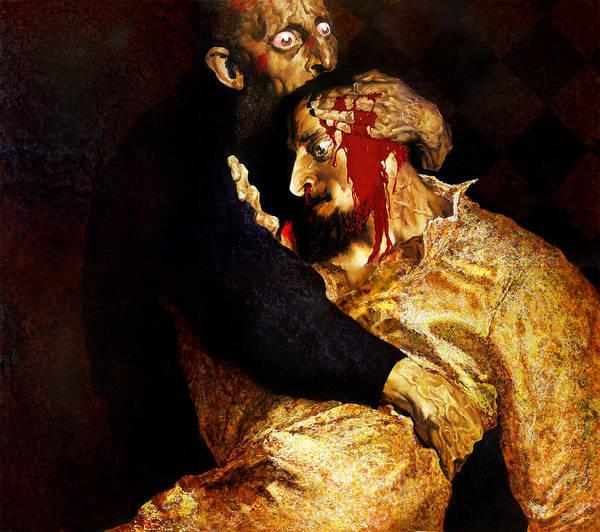Man Art Print featuring the painting Ivan by Valeriy Mavlo