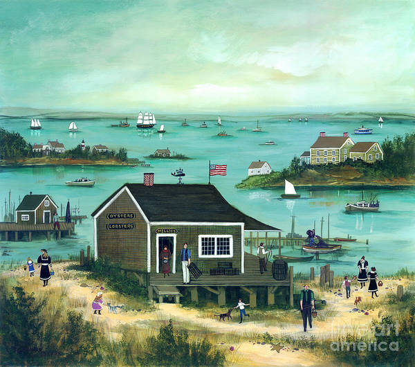 Cape Cod Low Tide Part - 35: Cape Cod Art Print Featuring The Painting Low Tide, Cape Cod By Janet Munro