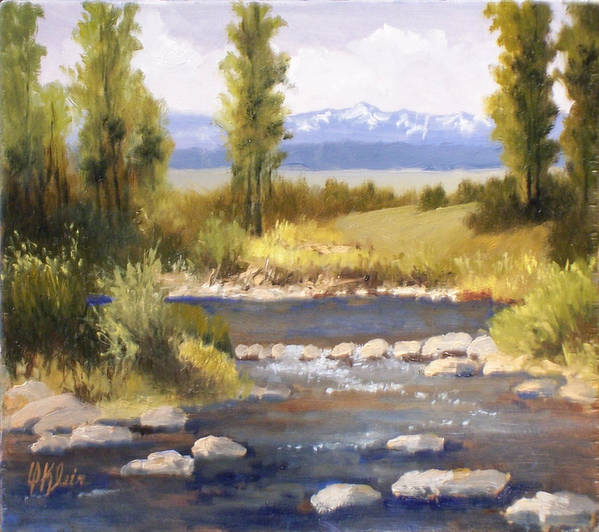 Landscape Art Print featuring the painting Moyie River by Dalas Klein