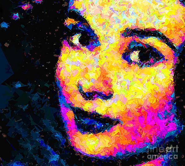 Portrait Art Print featuring the painting Portrait Of Audrey Hepburn by Zedi