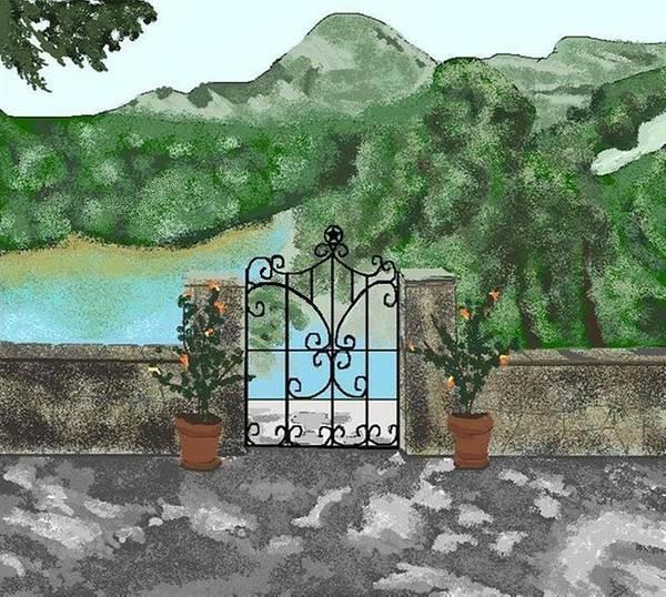 Landscape Art Print featuring the digital art River Oaks Ranch by Carole Boyd