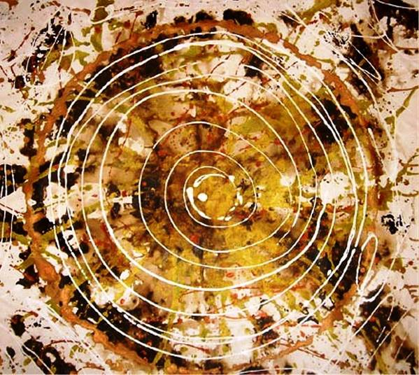 Circlabstracte Art Print featuring the painting The Eternal Circle by Baljit Chadha