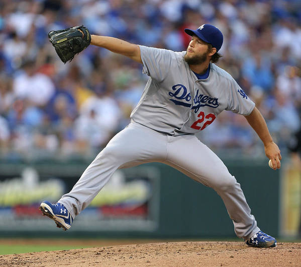 People Art Print featuring the photograph Clayton Kershaw by Ed Zurga