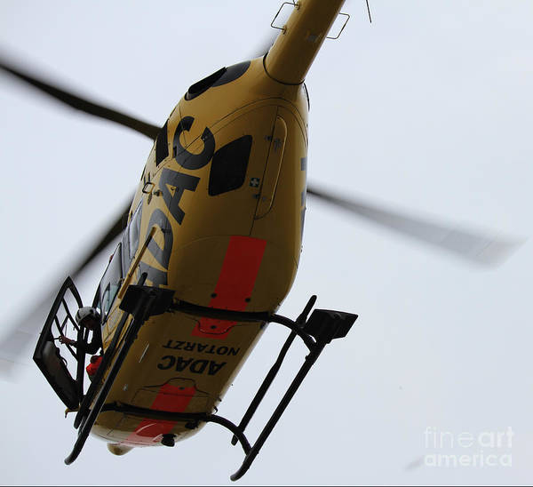 Helicopter Art Print featuring the photograph Hi There by Four Hands Art