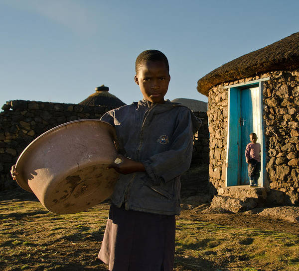 African Print featuring the photograph Serious Morning by Aaron Bedell