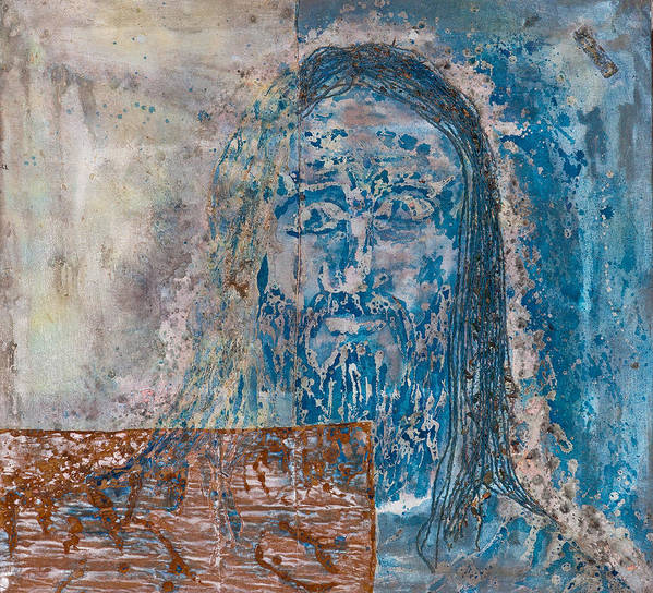 Art Art Print featuring the painting See Me See My Father And The Spirit by Thomas Lentz