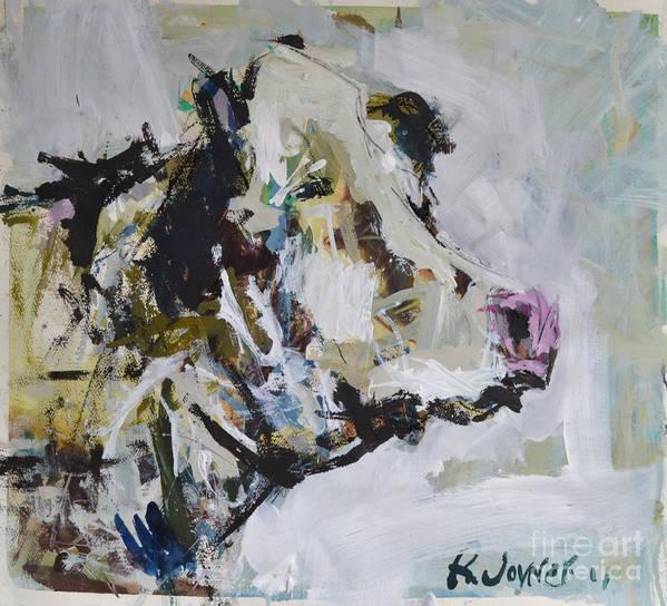 Art Art Print featuring the painting Cow Portrait by Robert Joyner