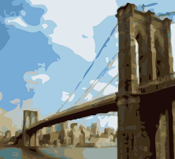 Brooklyn Bridge Art Print featuring the photograph Brooklyn Bridge Color 16 by Scott Kelley