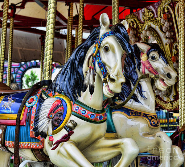 Carousel Print featuring the photograph Carousel Horse 2 by Paul Ward