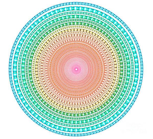 Abstract Art Print featuring the digital art Multicolor Circle by Atiketta Sangasaeng