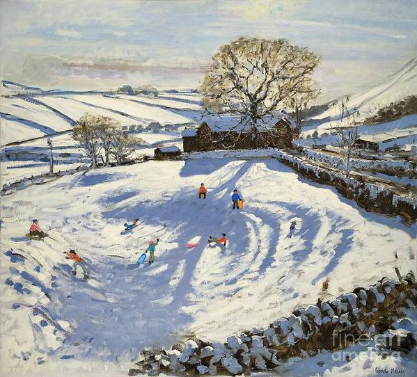 Winter Print featuring the painting Sparrowpit Derbyshire by Andrew Macara