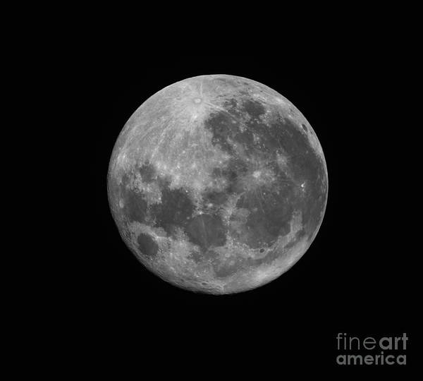 Perigee Art Print featuring the photograph The Supermoon Of March 19, 2011 by Phillip Jones
