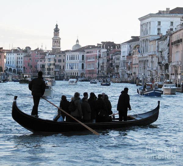 Grand Canal Art Print featuring the pyrography Traghetto . Gran Canal. Venice by Bernard Jaubert