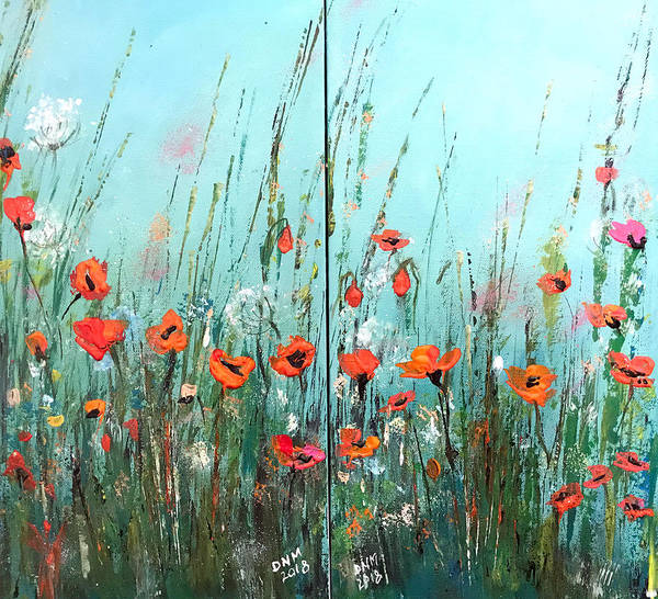 Wild Art Print featuring the painting Wild Flowers by Dorothy Maier