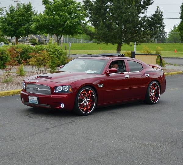 2007 Art Print featuring the photograph 2007 Dodge Charger Couture by Mobile Event Photo Car Show Photography