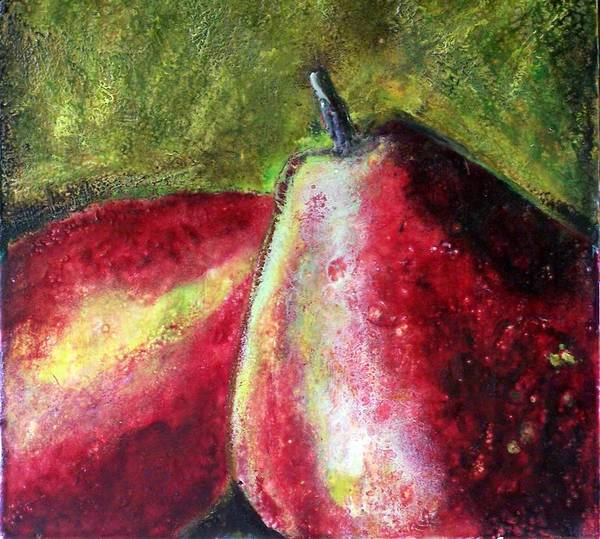 Fruit Art Print featuring the painting A Pear by Karla Phlypo-Price