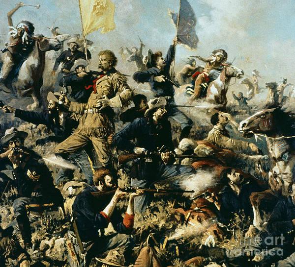 Battle Of Little Bighorn Art Print featuring the painting Battle Of Little Bighorn by Edgar Samuel Paxson