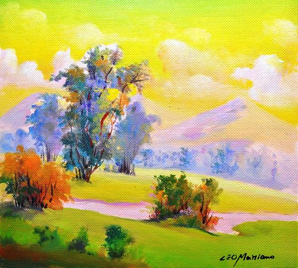 Art Print featuring the painting Chlorophyll by Leomariano artist BRASIL