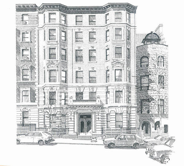 Landscape Art Print featuring the drawing Co-op Building by Bruce Arvon