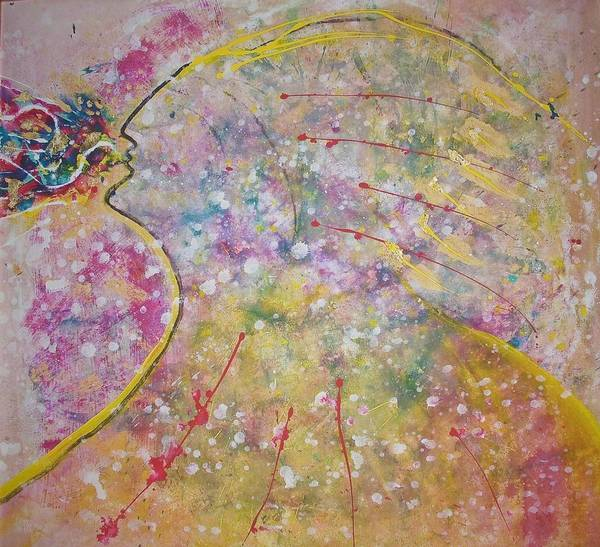 Native American Art Print featuring the painting Cosmos Song by Ruth Beckel