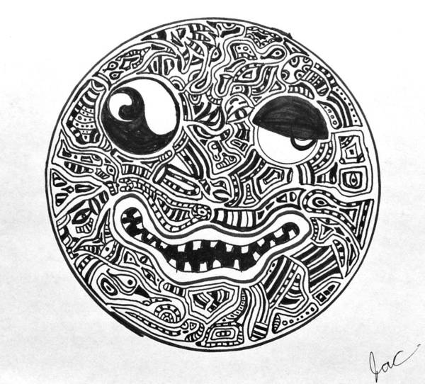 Smile Art Print featuring the drawing Hi, Smiley by Regina Jeffers