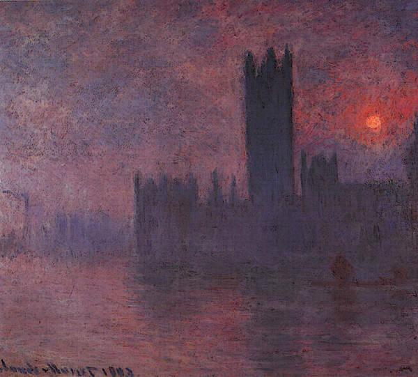 London Art Print featuring the digital art London Houses Of Parliament At Sunset by PixBreak Art