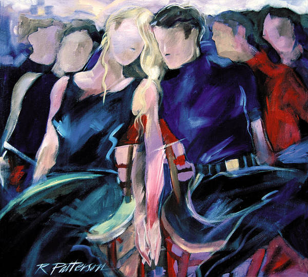 Figurative Art Print featuring the painting Musical Chairs by Ron Patterson