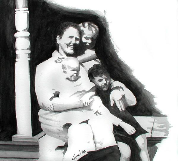Grandma Art Print featuring the painting My Grandma by Ferrel Cordle