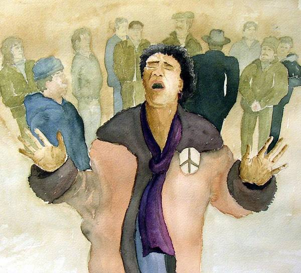 Figure Art Print featuring the painting Peace Protest by Joe Lanni