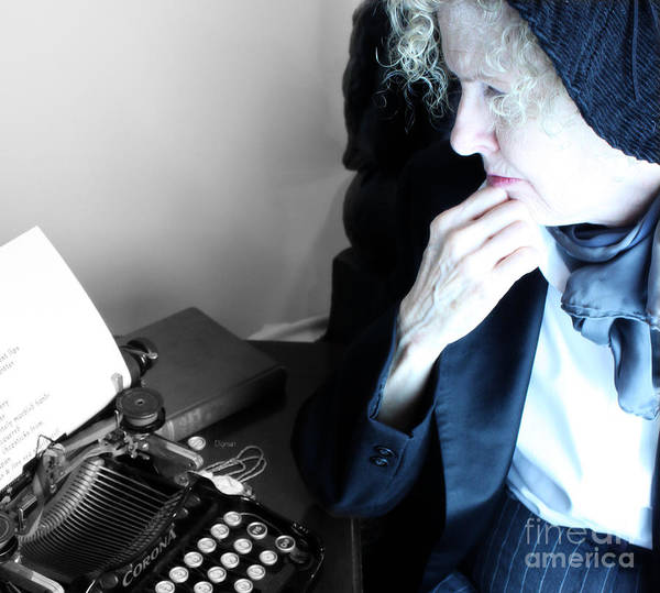 Writing Art Print featuring the photograph Professor In Writing by Steven Digman