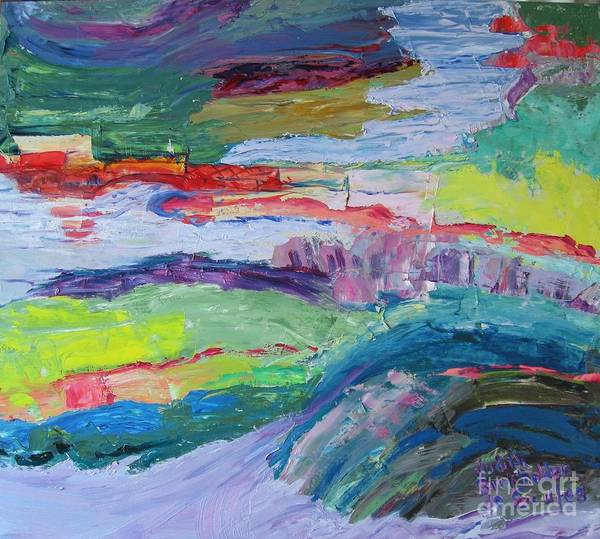 Landscape Art Print featuring the painting Shoreline by Judith Espinoza