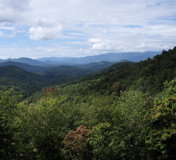 Landscape Art Print featuring the photograph Smoky Mountain View by Jessica Breen